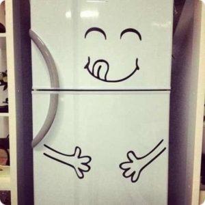 Buzdolabı Sticker Modelleri Eğlenceli