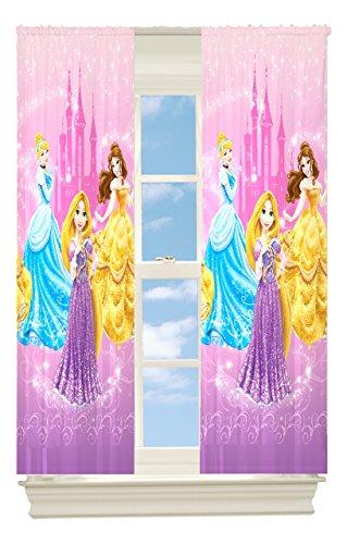 Kız Çocuk Odası Prensesli Perde Modelleri