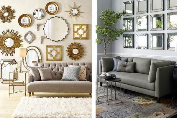 Duvar Dekorasyon Fikirleri Aynalar