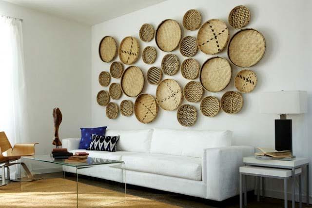 Duvar Dekorasyon Fikirleri Sepetler