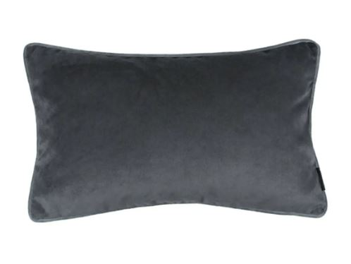 koyu gri süet yastık kılıfı