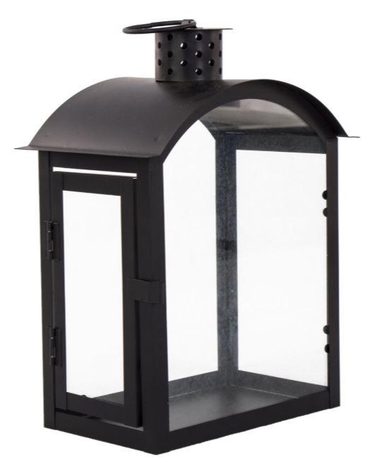 siyah metal bahçe feneri