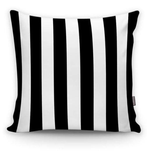 siyah beyaz çizgili yastık kılıfı
