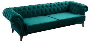 yeşil chester koltuk