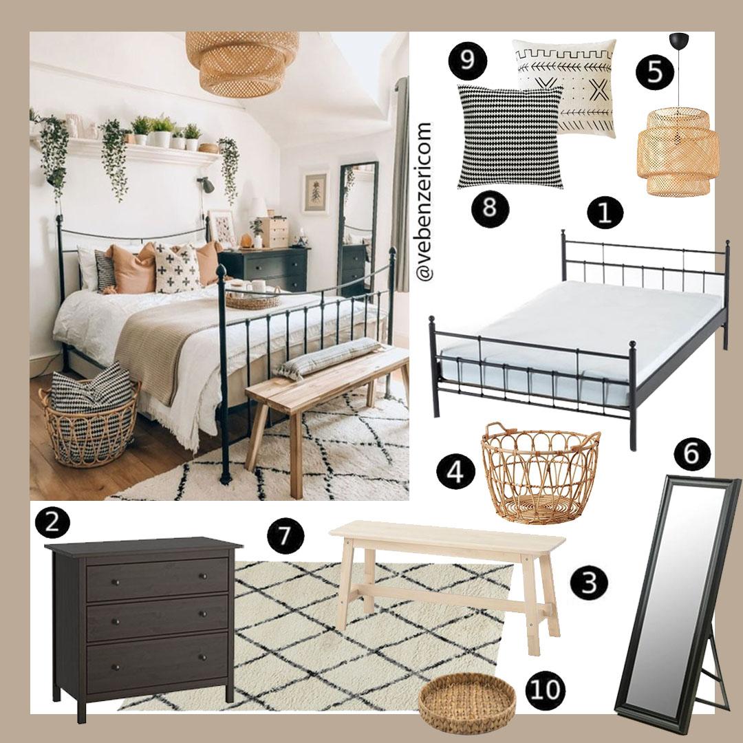 bohem yatak odası nasıl dekore edilir