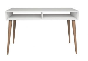 masif ayak beyaz çalışma masası