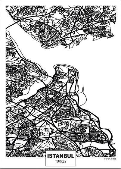 istanbul harita tablosu