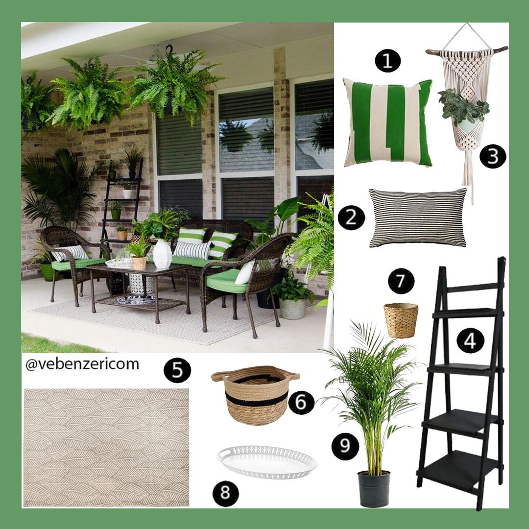 yeşil beyaz bahçe dekorasyonu ürünleri