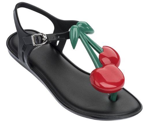 Kirazlı sandalet siyah