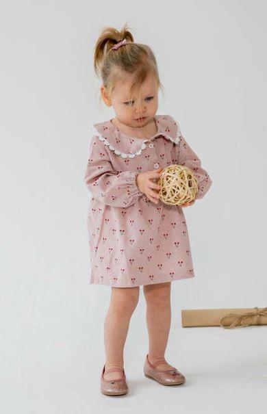 kiraz desenli bebek elbisesi
