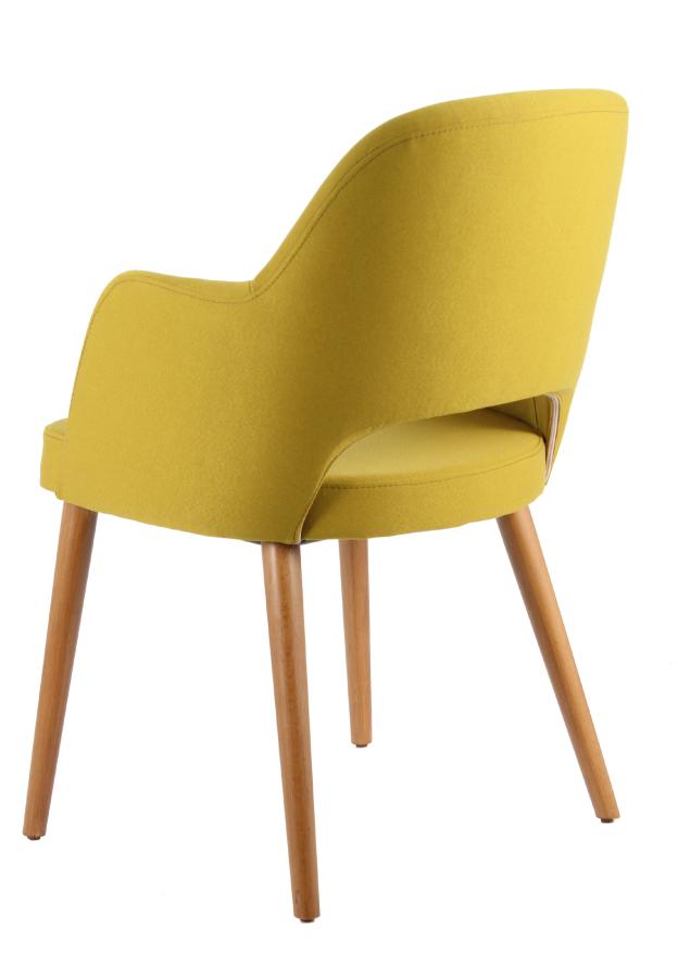 masif ayak sarı sandalye