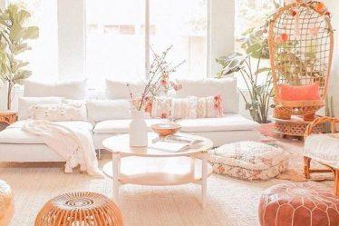 iskandinav bohem oturma odası